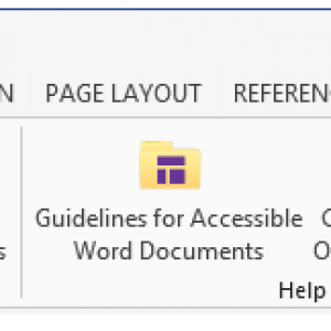 The Create CommonLook PDF button in the CommonLook Office Global Access ribbon.