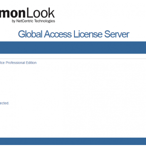 The CommonLook Global Access Licensing Server Reporter Rejected Connections window.