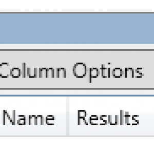 The buttons at the top of the Results panel in the CommonLoook PDF Validator. The Status button is highlighted.