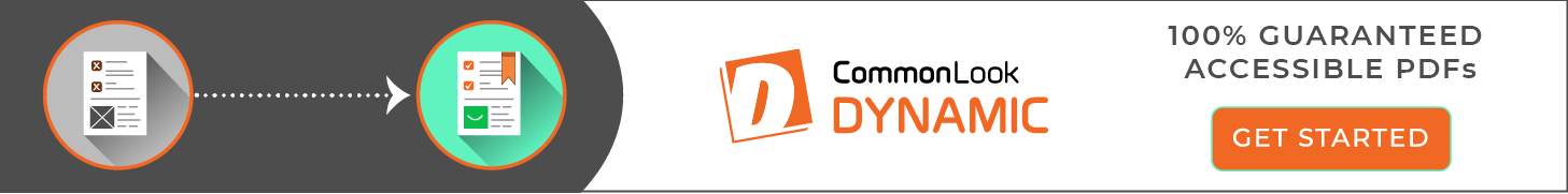 CommonLook Dynamic Banner - 100% Guaranteed Accessible PDFs