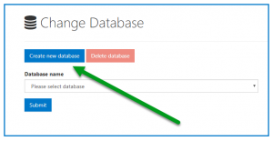 The button to Create a New Database.
