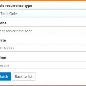 "The ""One Time Only"" scheduling option in CommonLook Dynamic."