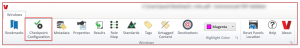 The Checkpoint Configuration button in the Ribbon on the Windows tab.