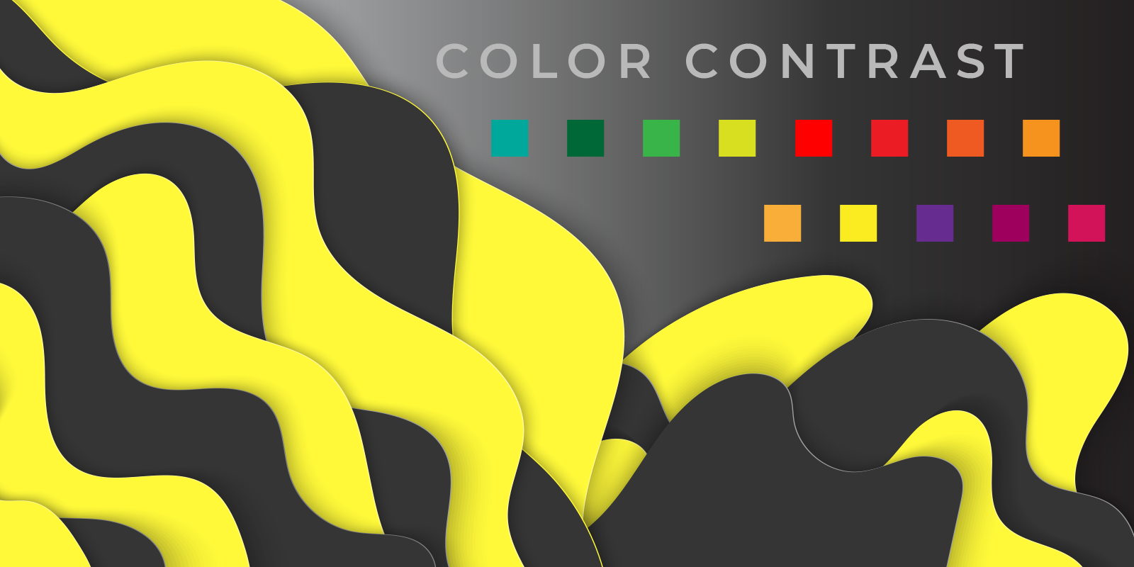 graphic showing color contrast between different colors