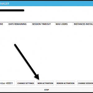 """The Settings screen in the CommonLook Licensing manager with the """"New Activation"""" button highlighted."""