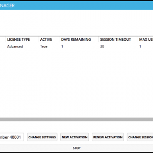 The Settings Screen in the CommonLook GlobalAccess Licensing Manager after activating a Product Key.