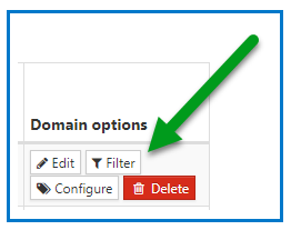 The Filter button in Domain Options.