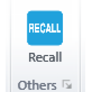 The Recall button in the Insert Tag tab on the CommonLook PDF GlobalAccess ribbon.